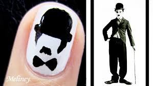 freehand cloud design nail art tutorial movember nail art tutorial charlie chaplin moustache nail design