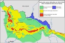 Europe Map During Ww1 Zone Rouge Wikipedia