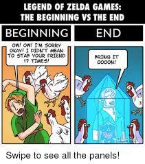 Legend Of Zelda Memes - legend of zelda games the beginning vs the end beginning end ow ow