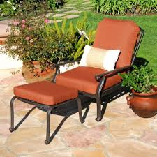Reclining Patio Chair With Ottoman by Astounding Patio Chair With Hidden Ottoman Verambelles