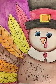 thanksgiving turkey watercolor pencil project create with me