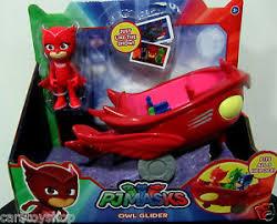 pj masks vehicle owl glider owlette figure toy car authentic au