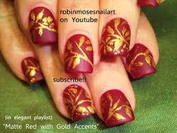 hindi wedding nail art red and gold nails robin moses nail art