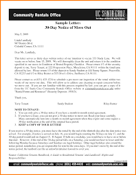 move out letter to landlord sample printable sample 30 day notice