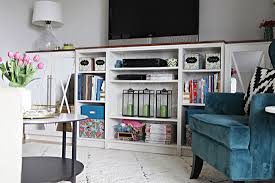 Billy Bookcases With Doors Iheart Organizing Built In Bookcase Diy Mirrored Doors