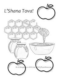Apples And Honey Rosh Hashanah Printables Do Try This At Home Rosh Hashanah Colouring Pages