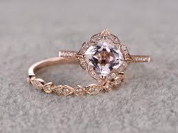 vintage rings aliexpress images Aliexpress buy ring women ring 2pcs 8mm 25ct round cut morganite jpg