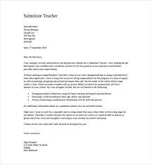 Substitute Teaching On Resume Cover Letter For Substitute Teaching Position Effective