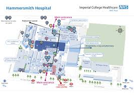 imperial college healthcare site map