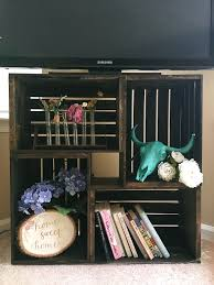 Making Wooden Bookshelves by 25 Best Wood Crate Shelves Ideas On Pinterest Crates Crate