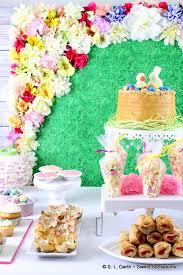 dessert table backdrop easter dessert table with floral backdrop