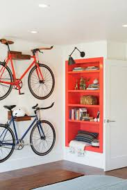 excellent hanging bike on wall in garage transitional bedroom with