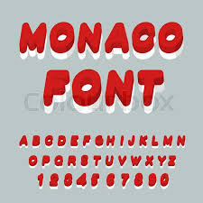 monaco font monaco flag on letters national patriotic alphabet