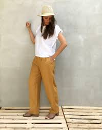 womens trousers linen pants linen trousers loose pants for