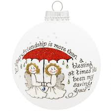 friendship saving grace heart gifts glass ornament u s artisans