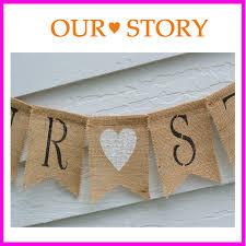 Burlap Photo Album Aliexpress Com Buy Rustic Our Story Burlap Banner Great Wedding