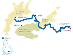 thames river map europe thames path national trails