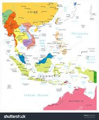 Map Of Se Asia by Download Southeast Asia Political Map Major Tourist Attractions Maps