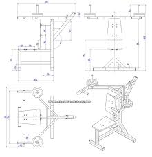 shoulder press bench plan assembly drawing shoulder press