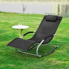 Lounge Patio Chair Haotiangroup Rakuten Haotian Rocking Black Lounge Patio Chairs