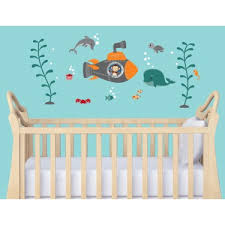 Nursery Wall Decorations Removable Stickers Nursery Wall Decals With Nautical Wall Decor For Baby Room