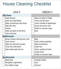 Bathroom Cleaning Schedule Form 6 House Cleaning List Templates Word Excel Pdf Templates