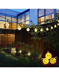 amazon com bolansi solar string light 20 ft 30led crystal ball