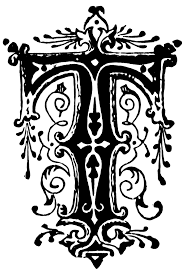 t ornamental letter clipart etc