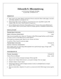 Free Basic Resume Template Easy Resume Template Sle Of Simple Resume Sle Resumes 210