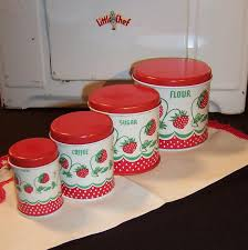 Tin Kitchen Canisters Vintage Wolverine Strawberry Toy Tin Kitchen Canister Play Set