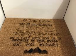 disney in this house door mat disney pinterest door mats