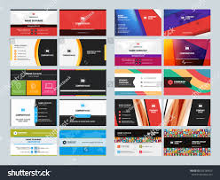 set creative clean business card print stock vector 358184825