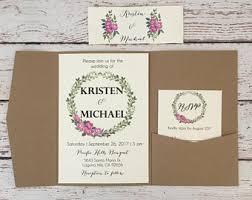 Pocket Wedding Invitations Pocket Invitations Etsy