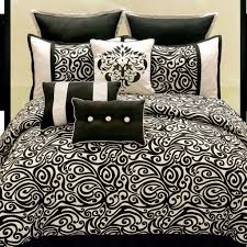 carrington lush pattern black and white comforter queen with black