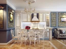 kitchen elegant kitchen dining room idea using classic furniture