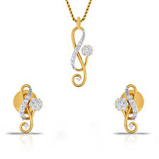 new gold set is new diamond gold pendant set charu jewels
