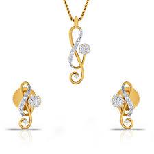 set of gold is new diamond gold pendant set charu jewels