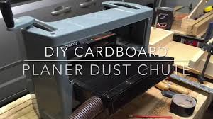 diy planer dust collection youtube