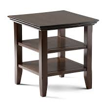 amazon com simpli home acadian end table rich tobacco brown