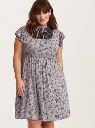 disney minnie mouse grey lace inset babydoll dress torrid