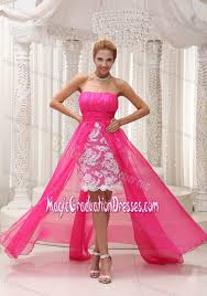 graduation dresses 5th grade pink high low ruched 5th grade graduation dresses with lace
