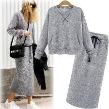 sweater skirt adogirl sweater skirt set autumn knit suit