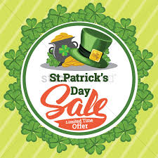 st patricks day sale vector image 1991426 stockunlimited
