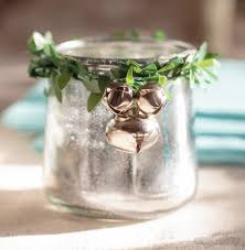 Accessorize Your End Table With Silver Vases And Votives by Mercury Glass Votives U0026 Sea Glass Jars Decorated For Christmas