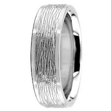 18k white gold wedding band leather textured wedding band comfort fit ring 18k gold