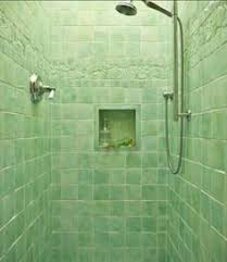 beautiful ombré green tile multi colored hex floor tile
