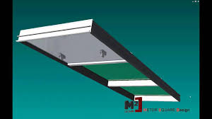 meter square design curtain wall unitized system simulation youtube