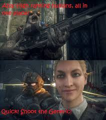 Gears Of War Meme - gears of war ultimate edition sniper logic by soundwave04 on