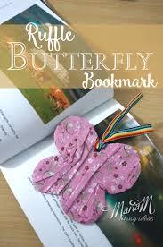 diy ruffle butterfly bookmark kids can make motherhood today