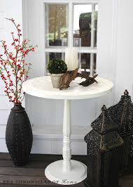 round pedestal accent table how to make a pedestal accent table from a wooden tray or wall